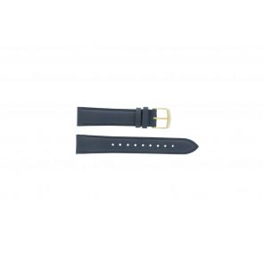 Timex Uhrenarmband PW2P63400 Leder Dunkelblau 18mm