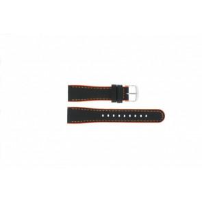Timex Uhrenarmband T2N428 Leder Schwarz 22mm