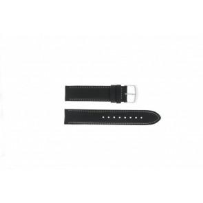 Timex Uhrenarmband T2N156 Leder Schwarz 20mm