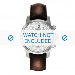 Tissot Uhrenarmband T361.461 PRC-200 - T600013367 Kroko leder Braun 19mm + braunen nähte