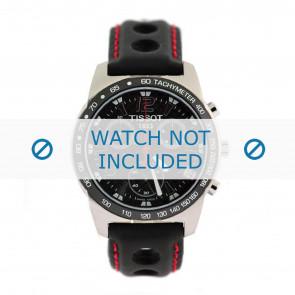 Tissot Uhrenarmband J378-478 PR-50 - T600020323 Leder Schwarz 19mm + roten nähte