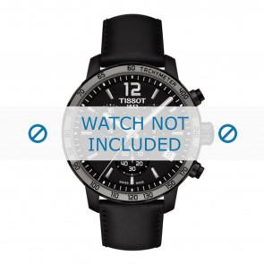 Tissot Uhrenarmband T095.417.36.057.02 - T600035372 Leder Schwarz 19mm