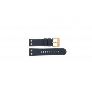 TW Steel Uhrenarmband TWB404-405 Leder Blau 24mm + blauen Nähten