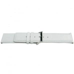 Uhrenarmband Universal K505 Leder Weiss 28mm