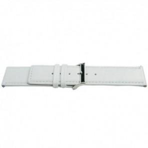 Uhrenarmband Universal L505 Leder Weiss 30mm