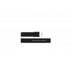 Uhrenarmband 6826 Silikon Schwarz 20mm