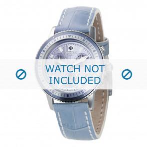 Zodiac Uhrenarmband ZO2811 Leder Blau + weiße nähte